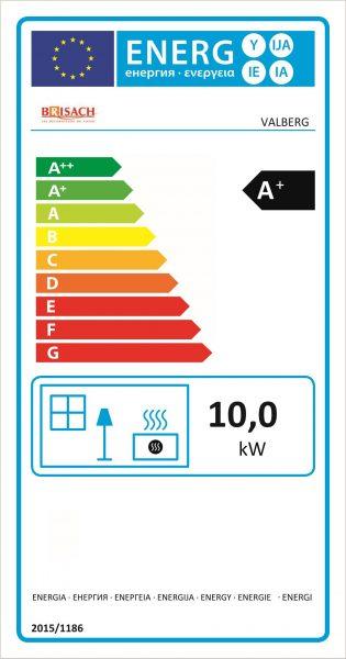Etiquette énergétique poêle à granulés Valberg