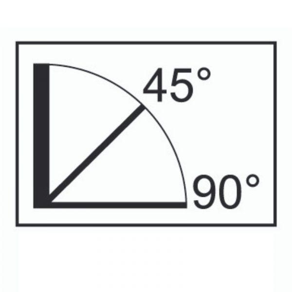 Ouverture à 45° et à 90°