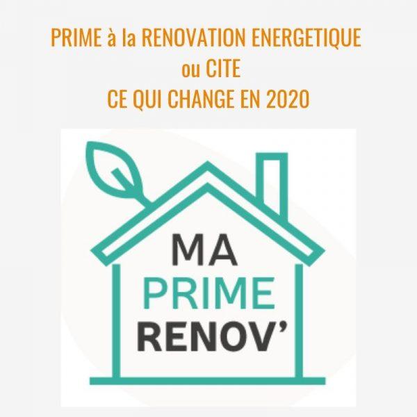 Prime à la rénovation 2020